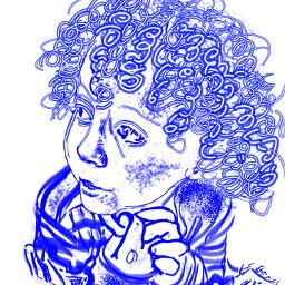 desafío dibujo líneas azul blue freetoedit dcoutlineart outlineart