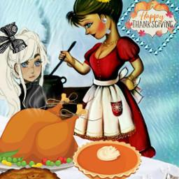 freetoedit thanksgiving woman girl cooking fcthanksgiving