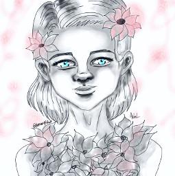 art artistic artwork portrait cute dcoutlineart