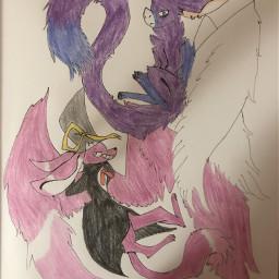 dragon rabbit noah amy purple