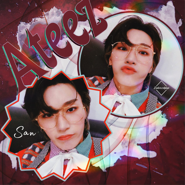 Thoughts? #san #ateez #kpop #red #cute #colorful  #freetoedit