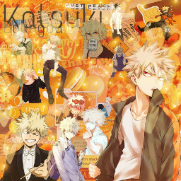 bakugo orange yellow katsuki hot freetoedit
