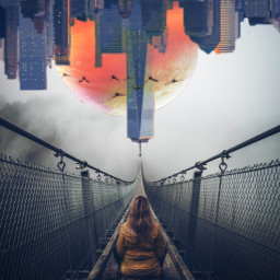 freetoedit cityscape solitude surreal futuristic ircfoggybridge