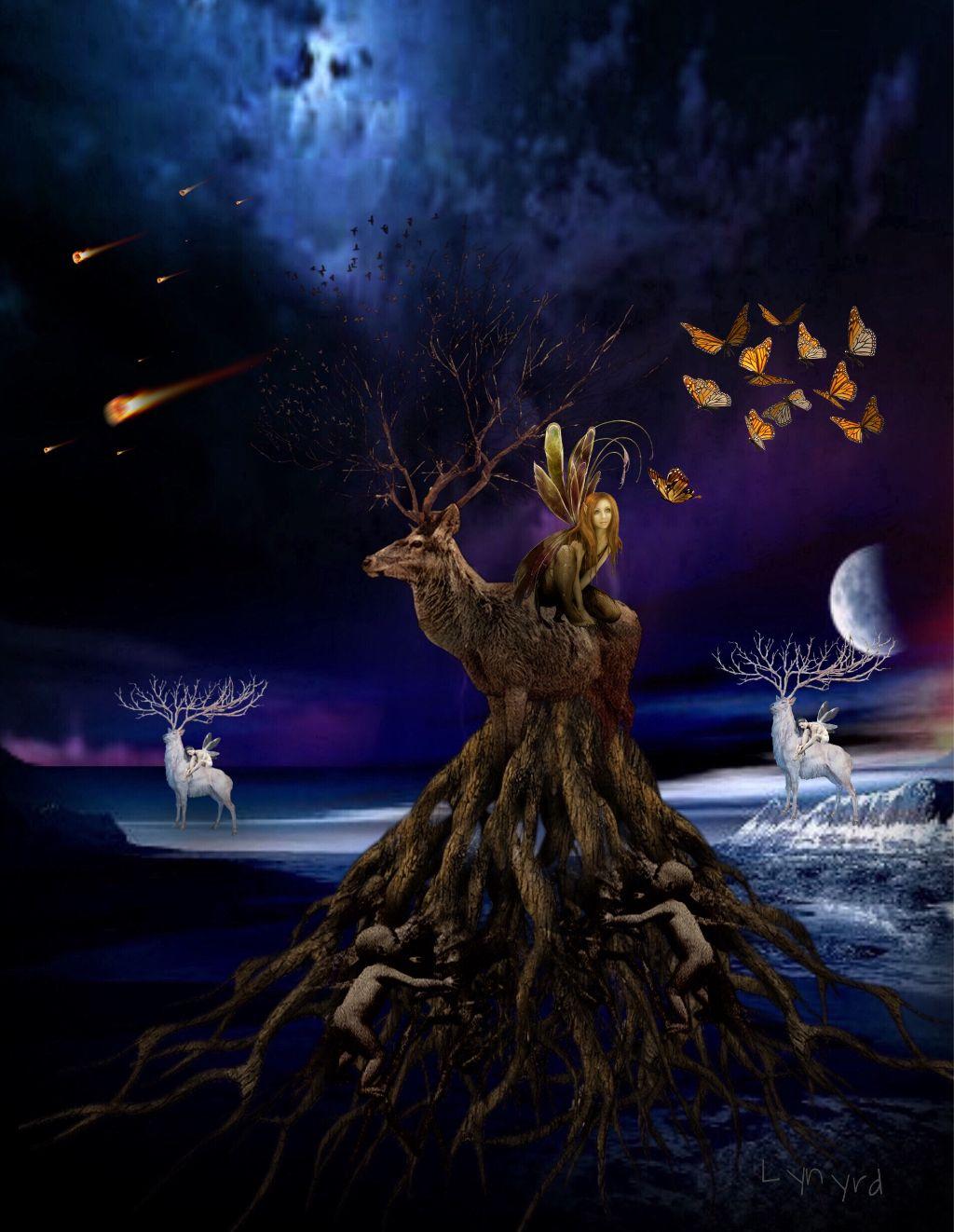 #freetoedit #deer #fantasy #art #myedit #madewithpicsart #awesomesticker