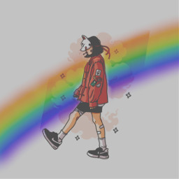 freetoedit rinbow sadgirl