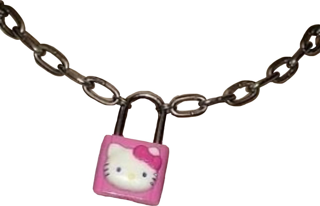 #hellokitty #chain #lock #padlock #goth #gothcore #soft #softcore #pink #sanrio #hellokittypink #gothpink #freetoedit