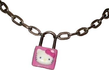hellokitty chain lock padlock goth freetoedit