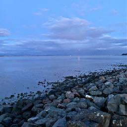 freetoedit bay sky nature evening