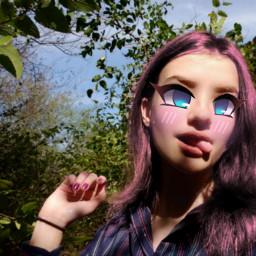 anime animegirl ♡ imstupid me freetoedit