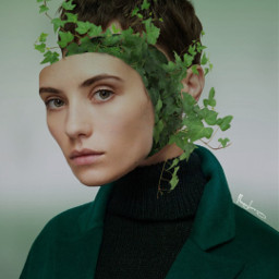freetoedit amazing creative editedbyme editedwithpicsart surrealism girl portrait nature inspiration plant
