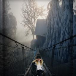 myedit winter snow bridge cold freetoedit ircfoggybridge foggybridge