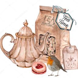 freetoedit teatime teapot bird teabag