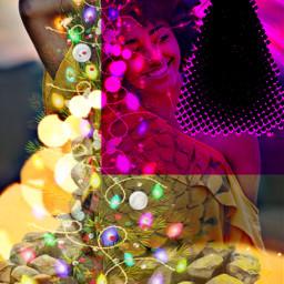 freetoedit woman december xmastree