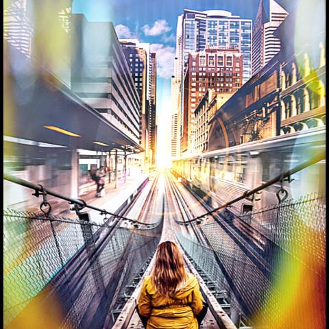 #freetoedit,#woman,#lady,#subway,#bridge,#ircfoggybridge,#foggybridge