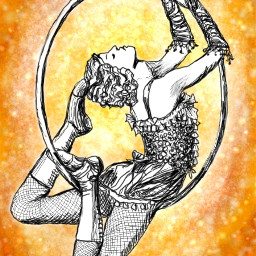 cirque performer dcoutlineart outlineart