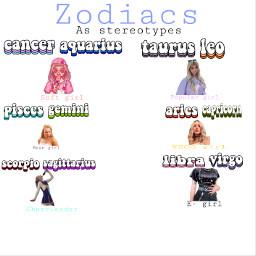 zodiacs stereotype freetoedit
