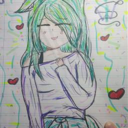 draw oc anime dibujo otaku