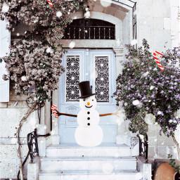 freetoedit vipshoutout december snowman photography