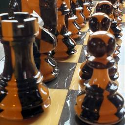 chess chesspieces chessfigures reflection