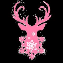 deer reindeer christmas country pink freetoedit