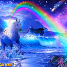 freetoedit picsart fantasy mar rainbow