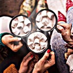 freetoedit hotcocoa hotchocolate friends women