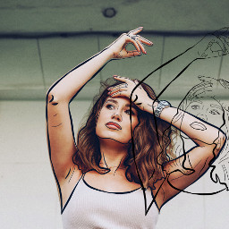 freetoedit sketch sketcheffect girl double