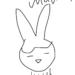 stupid ew bunny carrots cute dcoutlineart outlineart