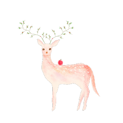 ftestickers watercolor deer freetoedit