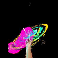 ftestickers fantasyart hand arm galaxy freetoedit