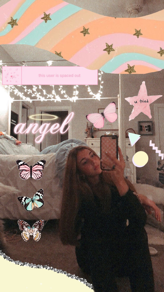 #freetoedit #pastel #soft #vsco #angel #butterfly #aesthetic #mirrorpicture