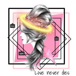 loveneverdies love background asthetic halo