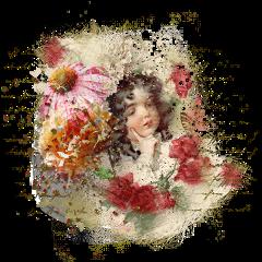freetoedit writing vintage child flowers