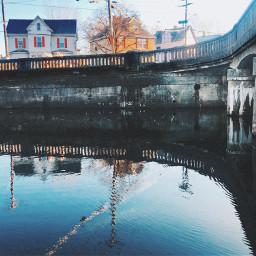 reflection river bridge residential freetoedit