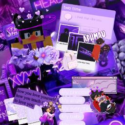 aphmau aaron interesting purple purpleaesthetic freetoedit