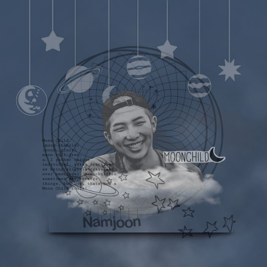 #namjoon #edit #aesthetic #moonchild #cuteaesthetic #cute   Thank u for being the best leader that we have ever seen!!   Kim namjoon as a moonchild best leader ever.