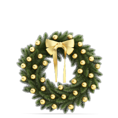 ftestickers christmas wreath decoration gold freetoedit