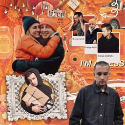 freetoedit tylerjoseph twentyonepilots orange tyler