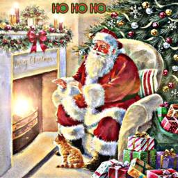 freetoedit christmas tree fire fireplace
