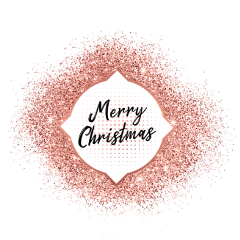 ftestickers merrychristmas glitter sparkle rosegold freetoedit