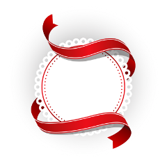 ftestickers christmas banner ribbon frame freetoedit