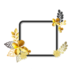 ftestickers leaves frame borders gold freetoedit