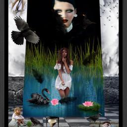 freetoedit blackbirds clock hourglass birdsflyinghigh
