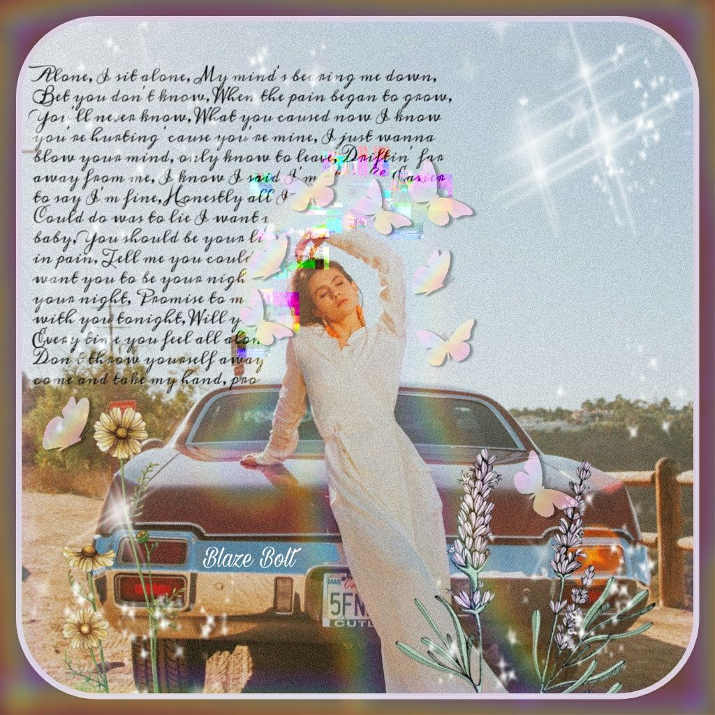 #freetoedit I used a replay for this edit #quotes #car #butterflies #flowers #brushes #maskeffects