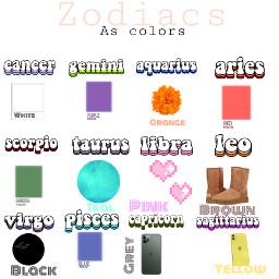 zodiacs colors freetoedit