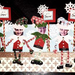 freetoedit elves snowflakes crafts elfontheshelf