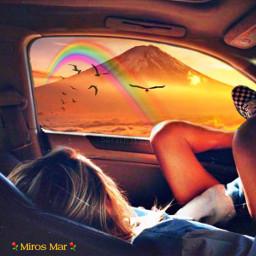 freetoedit picsart volcan rainbow arcoiris🌈