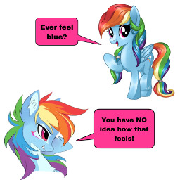 freetoedit mlp rainbowdash blue meme