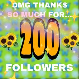 200 followers thanks tysm amazing freetoedit