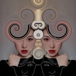 freetoedit faceart magic aesthetic artisticportrait